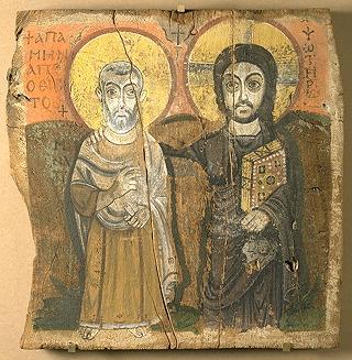 Cristo y el abad Mena